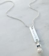 Namnhalsband silverpärla