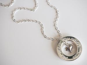 Namnhalsband silverhjärta