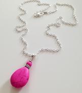 Howlite pink drop