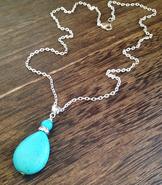 Howlite blue drop
