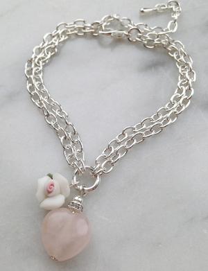 Rosenkvarts armband